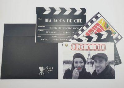 Invitación Claqueta de Cine