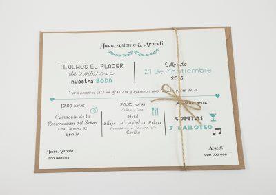 Invitaciones de bodas personalizada en Sevilla